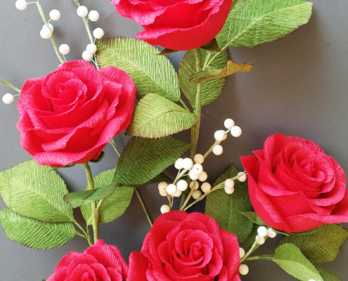 Paperflowers: red roses