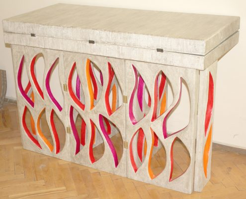 Cardboard furnitures: folding table