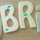 Cardboard accessories: decorative letters