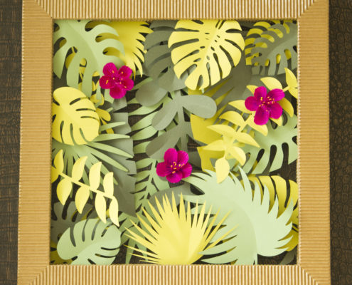 Fleurs en papier : Variations tropicales