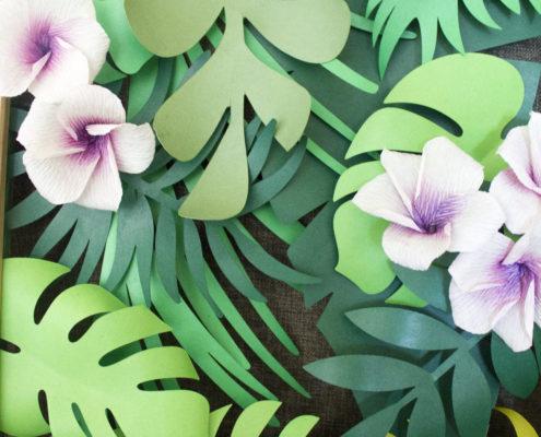 Fleurs en papier : Triptych tropical 2