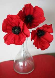 Paper flowers: red poppies