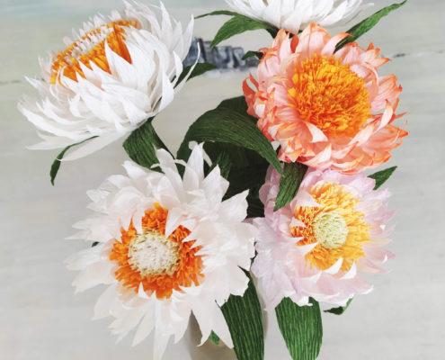 Fleurs en papier : immortelles
