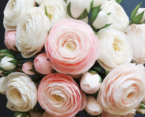 Renoncules en bouquet