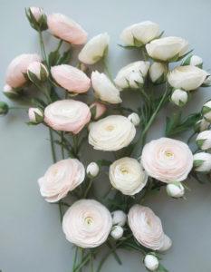 Fleurs en papier fait main pour compositions florales