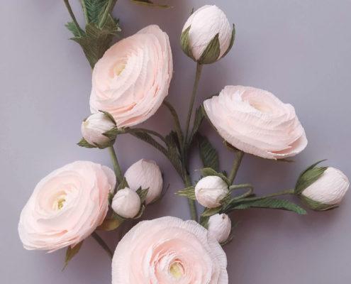 Tendres fleurs en papier